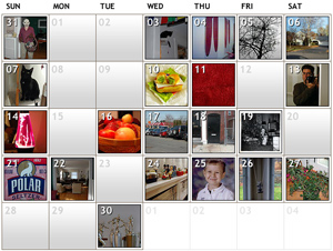 Flickr Calendar
